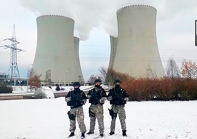 Полиция в «брутальном стиле» поздравила жителей Чехии с Рождеством: видео