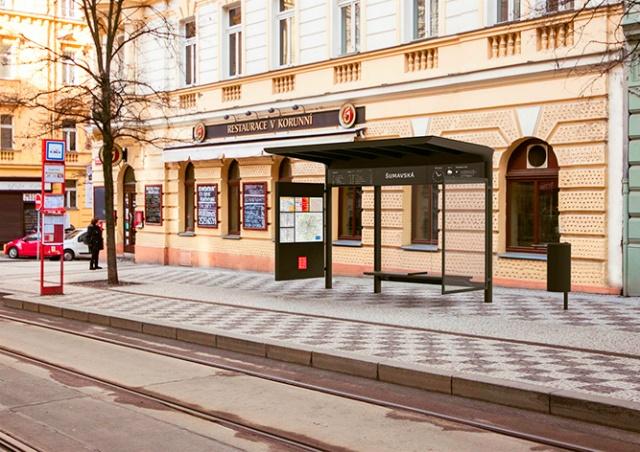 Прага показала дизайн новых остановок