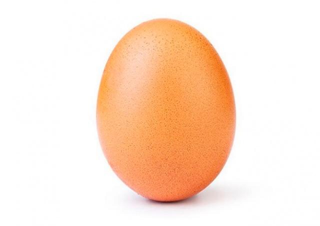 Фото куриного яйца стало самым популярным в истории Instagram