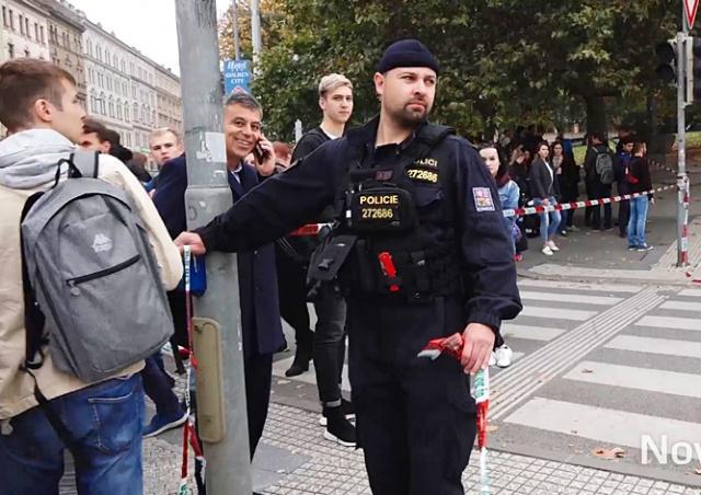 Здание VŠE в Праге эвакуировали из-за сообщения о бомбе
