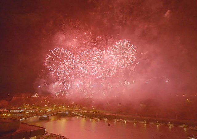 Опубликовано официальное видео новогоднего фейерверка в Праге
