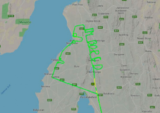 Заскучавший на работе пилот написал в воздухе «Мне скучно»