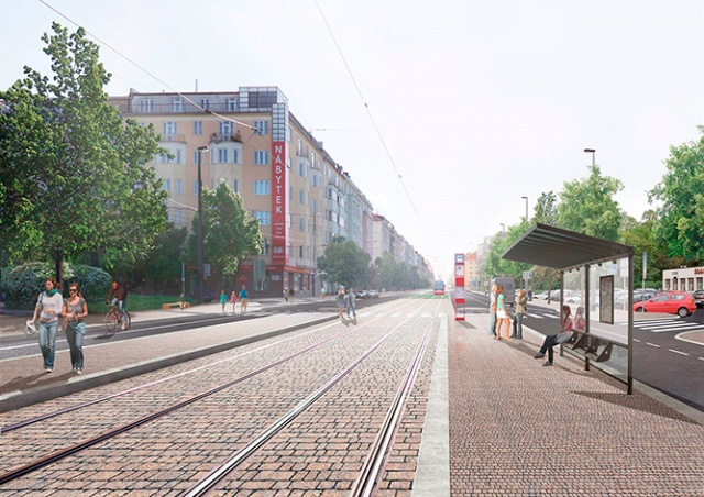 В субботу начнется ремонт трамвайных путей на улице Vinohradská в Праге