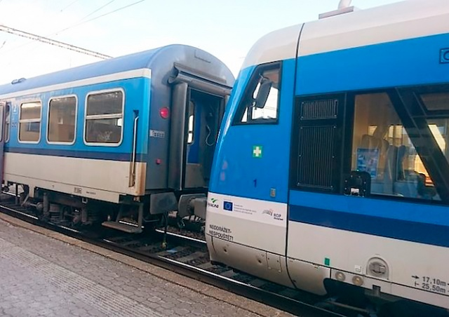 В Праге едва не столкнулись два поезда