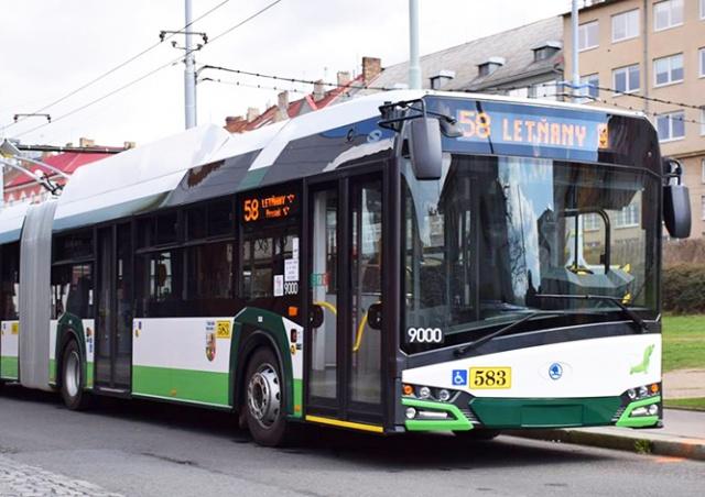 На улицы Праги выйдет второй троллейбус: видео