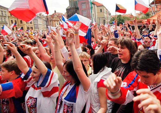 В центре Праги установят гигантский экран для просмотра ЧМ по хоккею