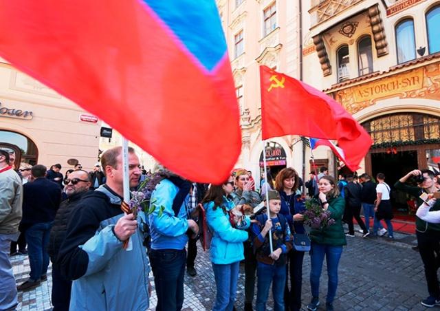 В Праге состоялось шествие «Бессмертный полк»