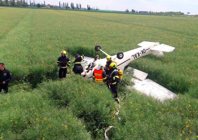 В Праге разбился легкомоторный самолет
