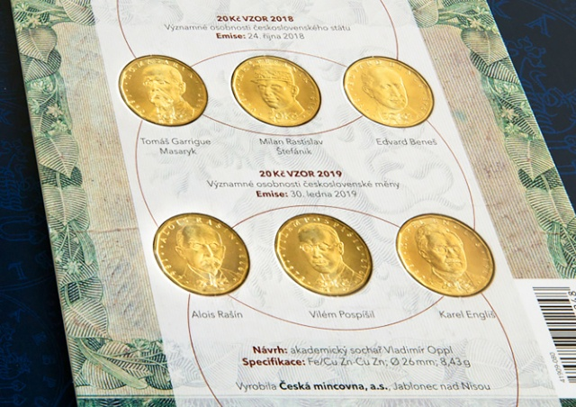 ЦБ Чехии выпустит коллекционный набор памятных монет в 20 крон