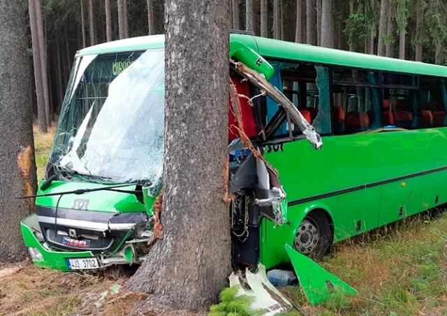 В Чехии разбился рейсовый автобус: 14 пострадавших