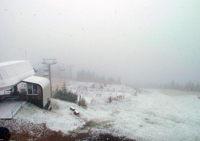 В Чехии выпал первый снег