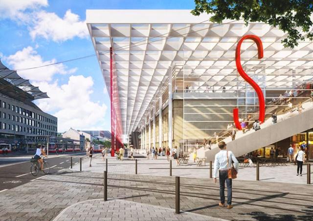Прага показала, как будет выглядеть Смиховский транспортный терминал