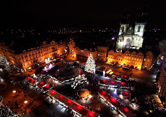 Самое красивое видео рождественской Праги
