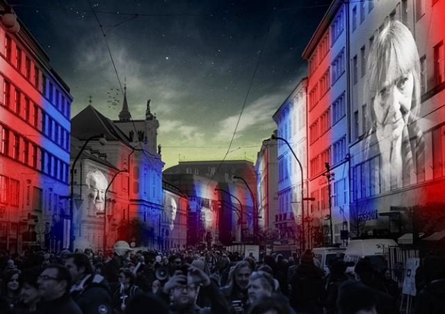 Видеопроекция на улице Národní třída: как это было