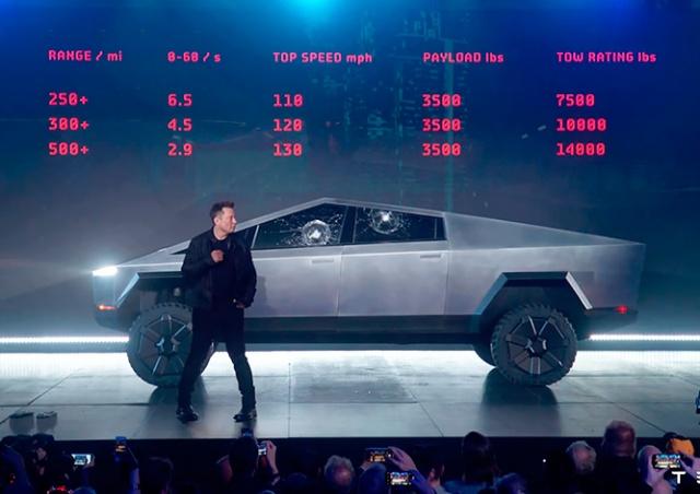 Илон Маск представил пикап Tesla Cybertruck