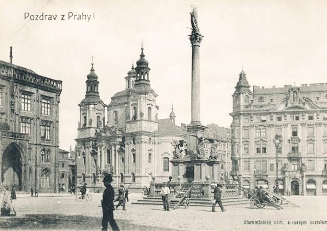Прага решила вернуть Марианский столб на Староместскую площадь