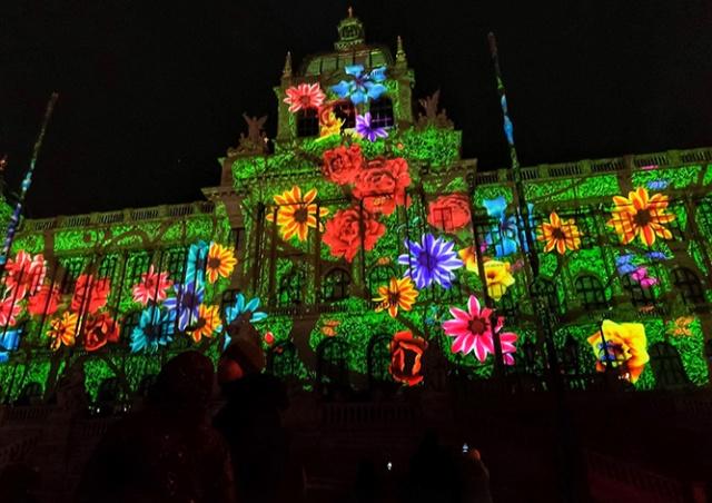 Новогодний видеомэппинг в Праге: как это было