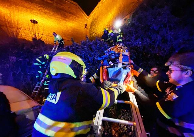 В Праге женщина упала со стены Вышеграда