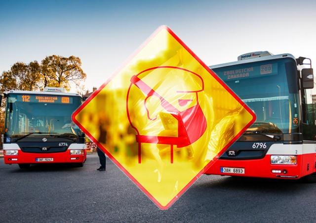 В Праге запретили входить в общественный транспорт без защиты лица