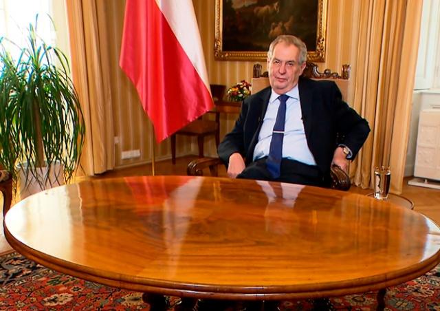 Президент Чехии призвал жителей к отваге