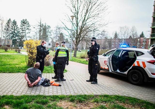 Жителя Чехии жестко задержали за отсутствие маски и скверный характер: видео
