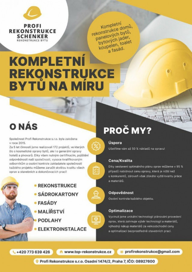 """Строительная компания""""Profi Rekonstrukce s.r.o"""""""