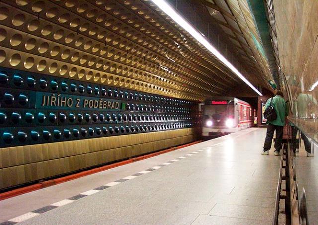 Станцию метро Jiřího z Poděbrad закроют на 10 месяцев