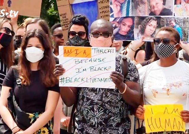 В Праге вновь протестовали против расизма и полицейского насилия в США
