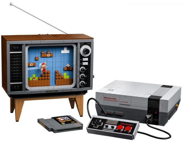 LEGO выпустила набор для сборки NES и ретро-телевизора