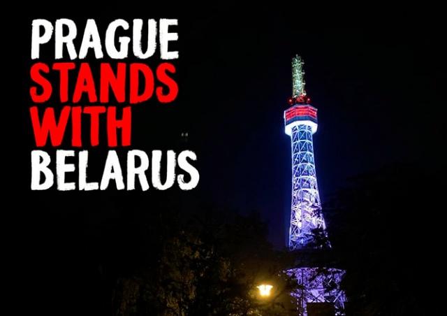 Прага поддержала протестующих белорусов