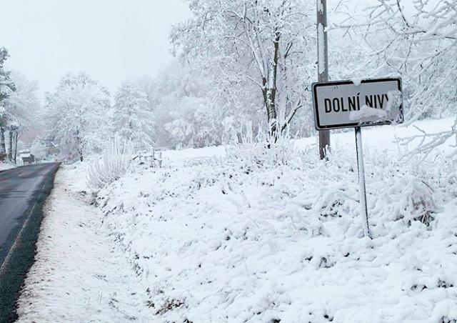 В Карловарском крае выпал «неправильный» снег