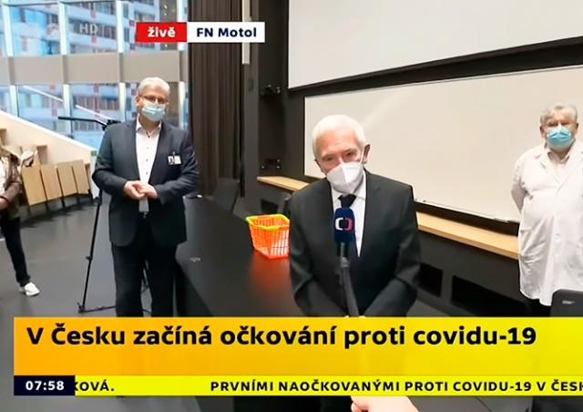 Оговорка чешского профессора рассмешила соцсети. Он назвал вакцину…