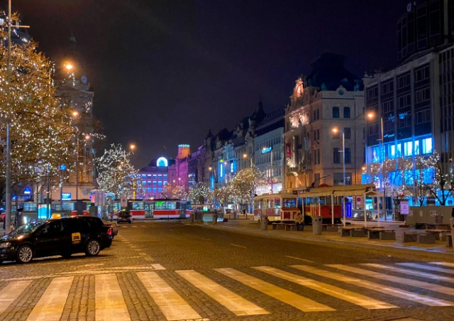 Как Прага встретила Новый год: видео
