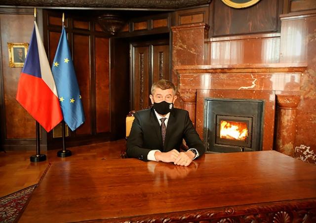 Премьер Чехии в новогоднем обращении извинился перед предпринимателями: видео