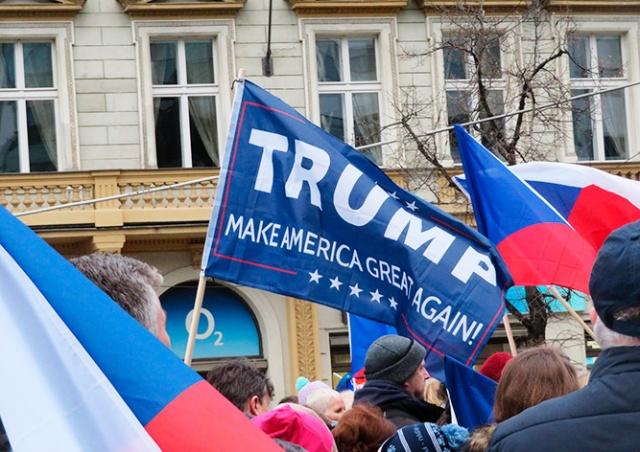 В центре Праги прошел митинг сторонников Дональда Трампа
