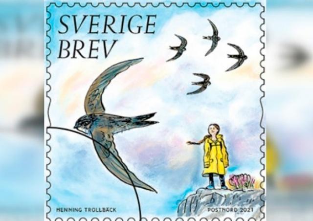 В Швеции выпустили почтовую марку с Гретой Тунберг в честь 18-летия активистки