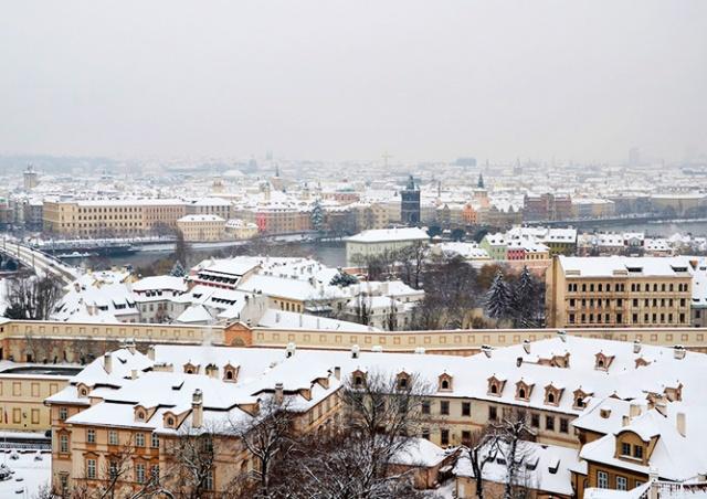 Предупреждение о снегопаде объявлено в Чехии
