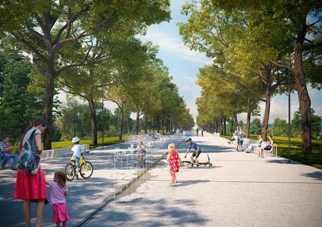 Прага реконструирует парк на холме Витков: фото