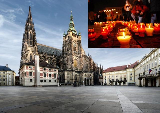 На Пражском Граде зажгут 30 тыс. свечей в память о жертвах коронавируса