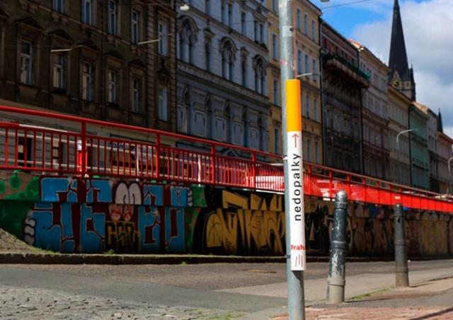 Прага-3 установила необычные пепельницы для борьбы с окурками