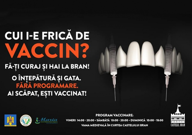 В замке Дракулы в Румынии открыли пункт вакцинации от коронавируса