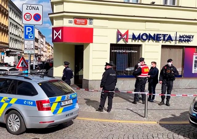 В Праге неизвестный ограбил банк
