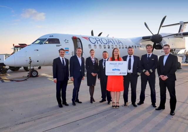 «Хорватские авиалинии» запустили рейс Прага – Сплит