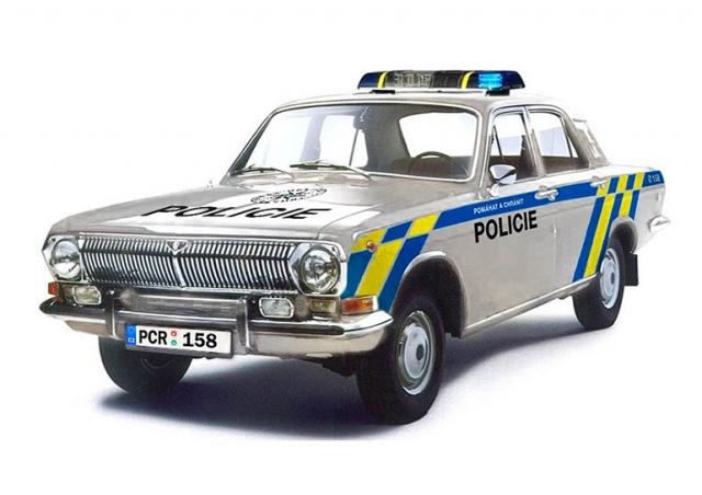 Как сегодня выглядели бы ретро-автомобили чешской полиции: фото