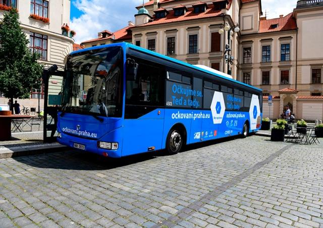 Жителей Праги будут прививать от коронавируса в специальном автобусе