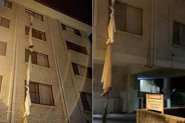 В Австралии турист по связанным простыням сбежал из карантинного отеля