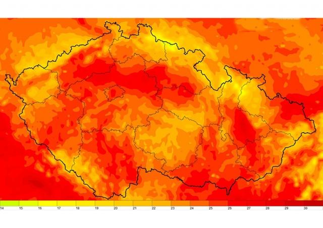 В Чехию идет потепление до 31˚C