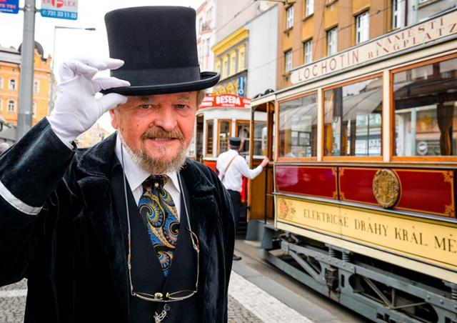 В Праге состоялся парад исторических трамваев: видео