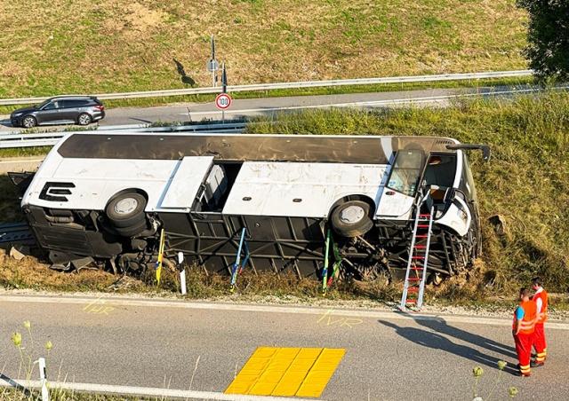 В Германии разбился автобус с чешскими туристами