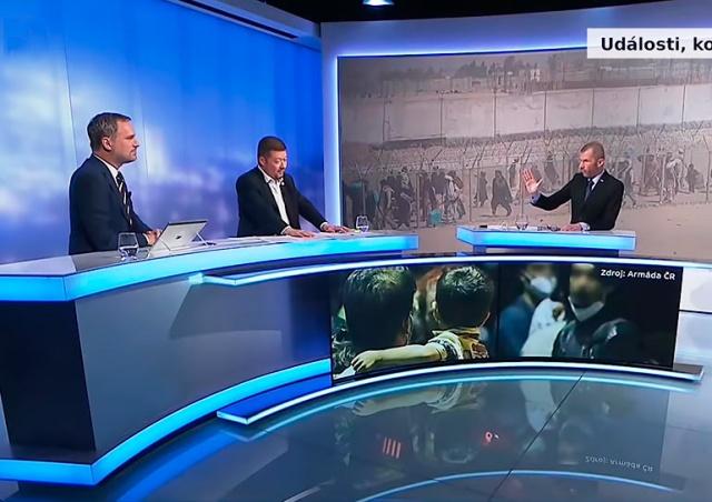 Ведущий «Чешского телевидения» наорал на неумолкающих политиков: видео